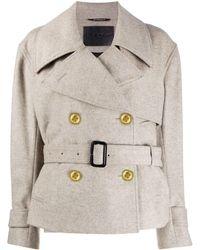 Givenchy WOLLE MANTEL - Grau