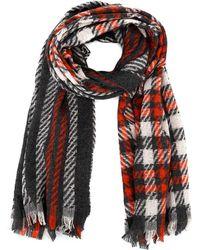 Emporio Armani Multicolour Wool Scarf - Red