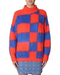 MSGM Oversized-Pullover mit Rollkragen - Orange