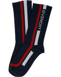 Givenchy - Blue Cotton Socks - Lyst