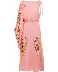 Prada ROSA SEIDE KLEID - Pink