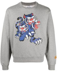 KENZO X Kansai Yamamoto Sweatshirt mit Tiger - Grau
