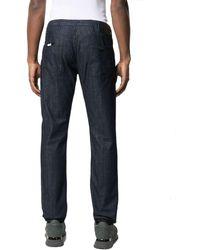 Emporio Armani Dunkle Straight-Leg-Jeans - Blau