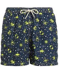 Mc2 Saint Barth Constellation Recycled Fabric Swim Shorts - Blue