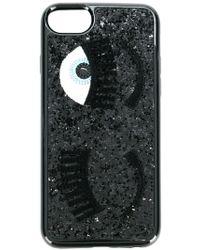 Chiara Ferragni Black Glitter Cover