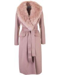 Prada Pink Wool Coat
