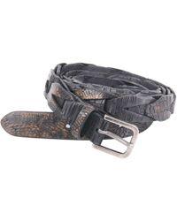 Orciani - Black Leather Belt - Lyst