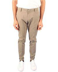 Dondup Grey Cotton Pants - Gray