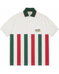 Gucci Striped Logo Polo - White