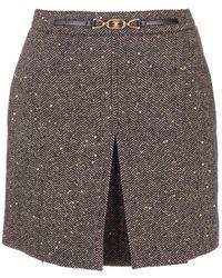 Celine Wool Skirt - Black