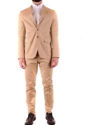 DSquared² Beige Cotton Suit - Natural