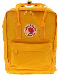 Fjällräven Kånken Yellow Polyurethane Backpack