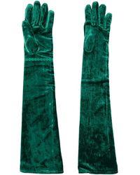 Maison Margiela Viscose Gloves - Green