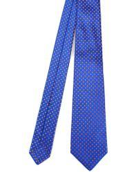 Kiton Blue Silk Tie