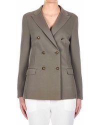 Eleventy Cotton Blazer - Green
