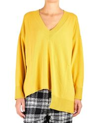 8pm - Yellow Viscose Sweater - Lyst