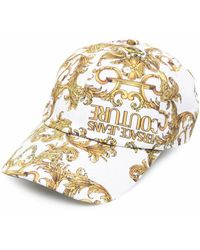 Versace Jeans Couture Cotton Hat - White