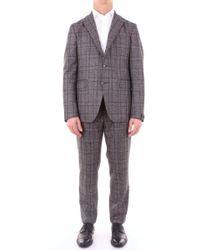 Tagliatore Grey Wool Suit - Gray
