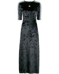 adidas Velvet Logo T-shirt Dress - Black