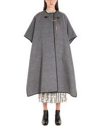 Ferragamo Wool Poncho - Gray