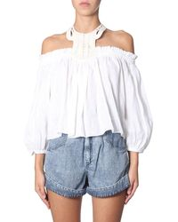 Isabel Marant Linen Top - White