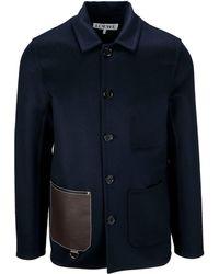Loewe Blue Wool Coat