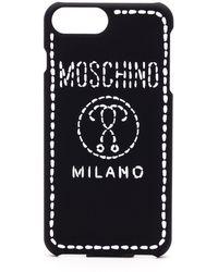 Moschino Black Polyurethane Cover