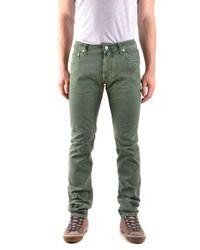 Jacob Cohen Green Cotton Jeans