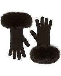 Max Mara Black Wool Gloves
