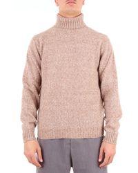 Heritage Beige Wool Sweater - Natural