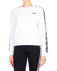 886757df White Cotton Sweatshirt