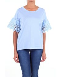 Seventy Light Blue Cotton T-shirt