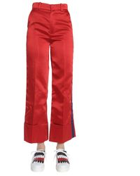 Tommy Hilfiger Acetate Trousers - Red