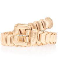 Prada Gold Leather Belt - Metallic