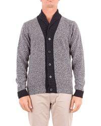 Heritage Black Wool Cardigan