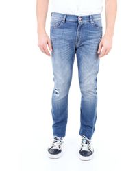 7 For All Mankind BLAU BAUMWOLLE JEANS