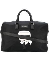 Karl Lagerfeld Polyamide Travel Bag - Black