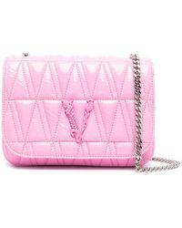Versace LEDER SCHULTERTASCHE - Pink