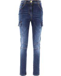 Balmain Cotton Jeans - Blue