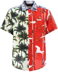 Buscemi Palm Tree Print Short-sleeved Shirt - Multicolour