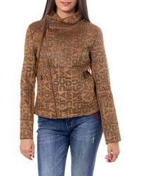 Desigual - Brown Polyester Outerwear Jacket - Lyst