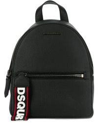 DSquared² Black Leather Backpack