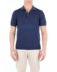 Heritage - Blue Cotton Polo Shirt - Lyst