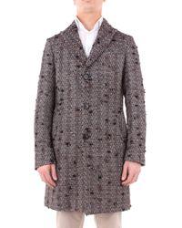 Aglini Brown Wool Coat