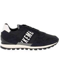 Bikkembergs Black Leather Sneakers