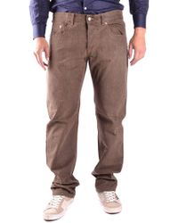 CoSTUME NATIONAL Men's Mcbi074014o Brown Cotton Jeans