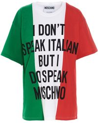 Moschino - ANDERE MATERIALIEN T-SHIRT - Lyst