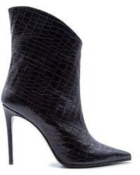 Aldo Castagna Leather Ankle Boots - Black