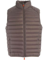 Save The Duck Polyamide Vest - Brown