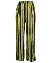 Maliparmi Malìparmi Viscose Trousers - Green